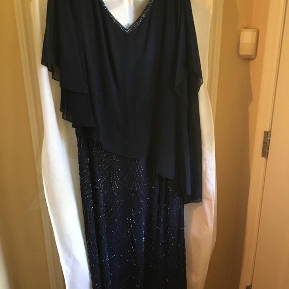 J Kara Dresses Womens Plus Size Pop Over Beaded Dress Poshmark